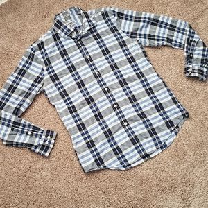 Express fitted button up collared shirt